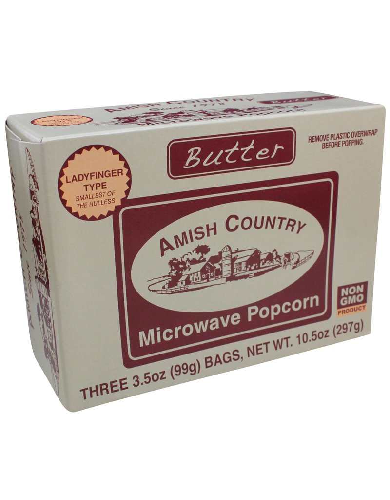 Amish Country Microwave Butter Popcorn 3pk