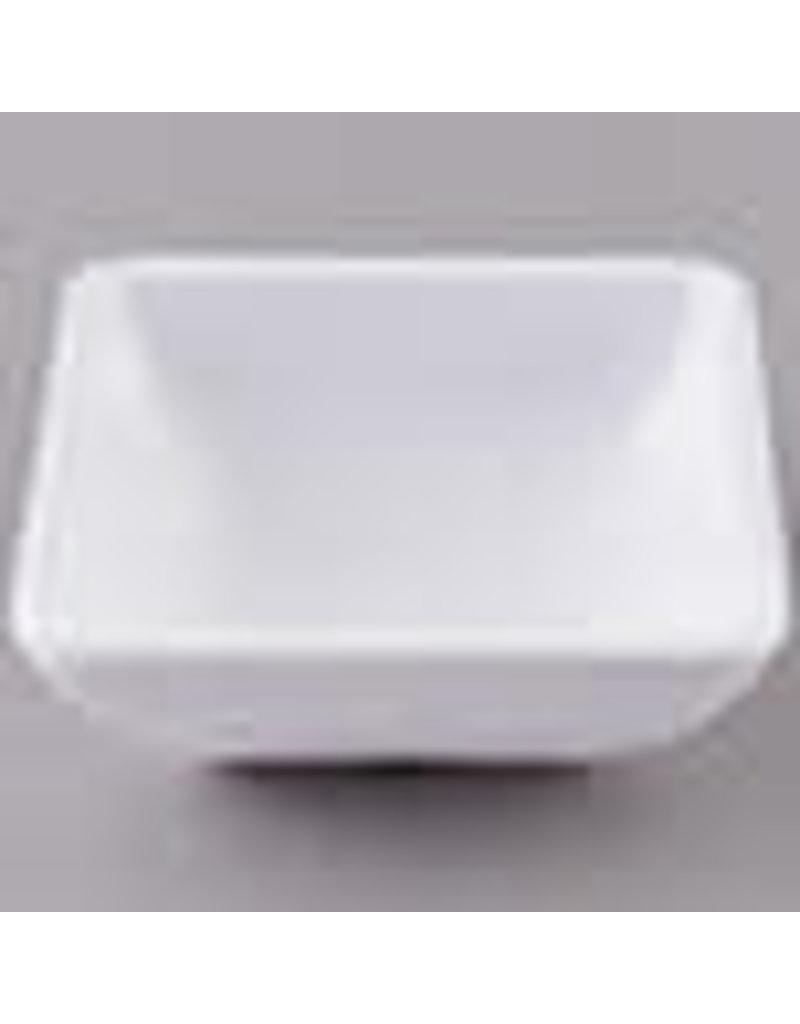 White Square Melamine Ramekin