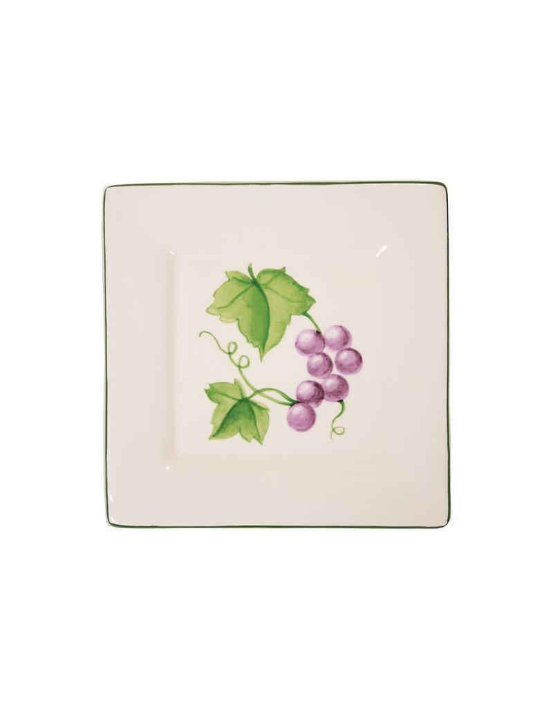 """Mini Square Bowl-Grape Vine 3.25"""""""