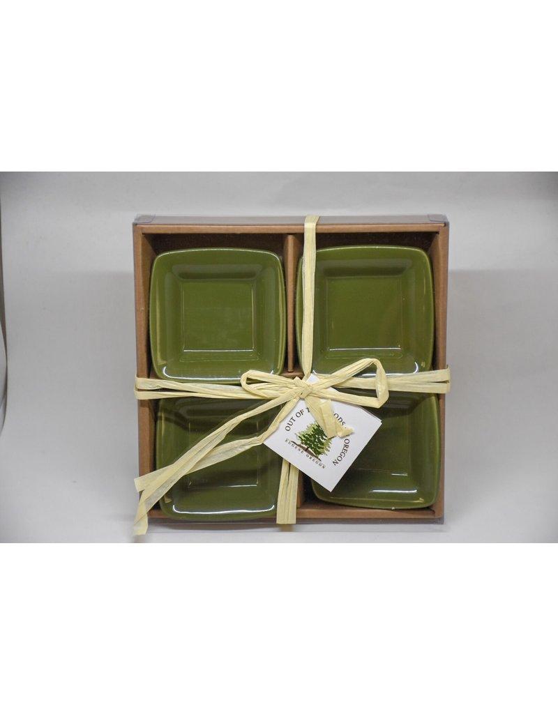 S/4 Mini Square Bowl-Green
