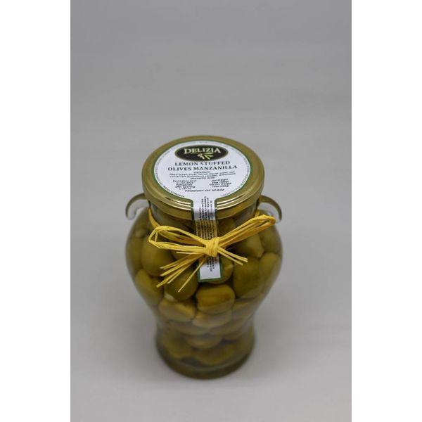 Delizia Manzanilla Olives Stuffed with Lemon