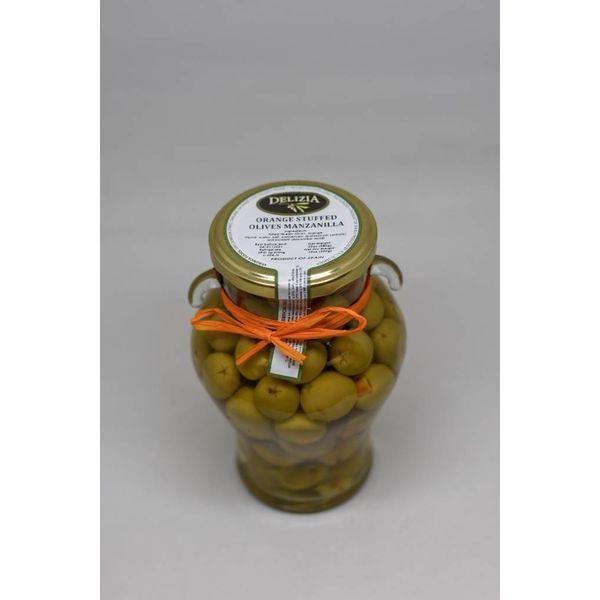 Delizia Manzanilla Olives Stuffed with Seville Orange