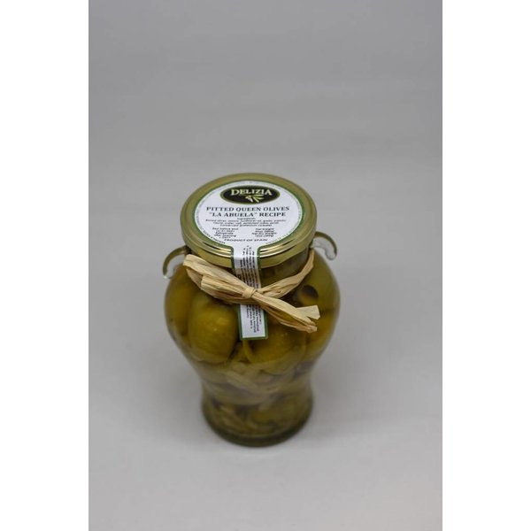 "Delizia Pitted Queen Olives, Gordal ""La Abuela""(with onion)"