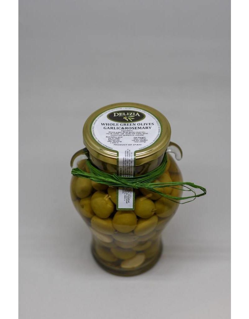 Whole Manzanilla Olive with Rosemary & Garlic