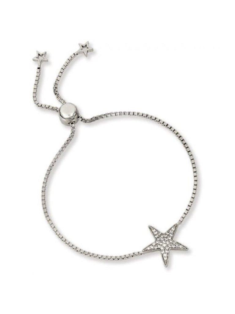 JDI Select 925 SS&RP CZ Star Fish Lariat Bracelet 10 5