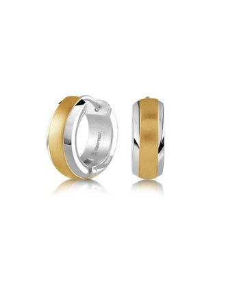 c339775bc Italgem Steel Stainless Steel Gold-Plated Center Huggies