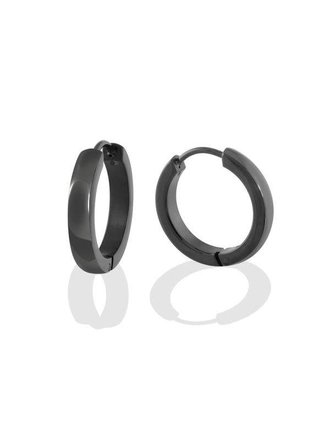 c63ae576f Italgem Steel Stainless Steel Black Polished Huggies