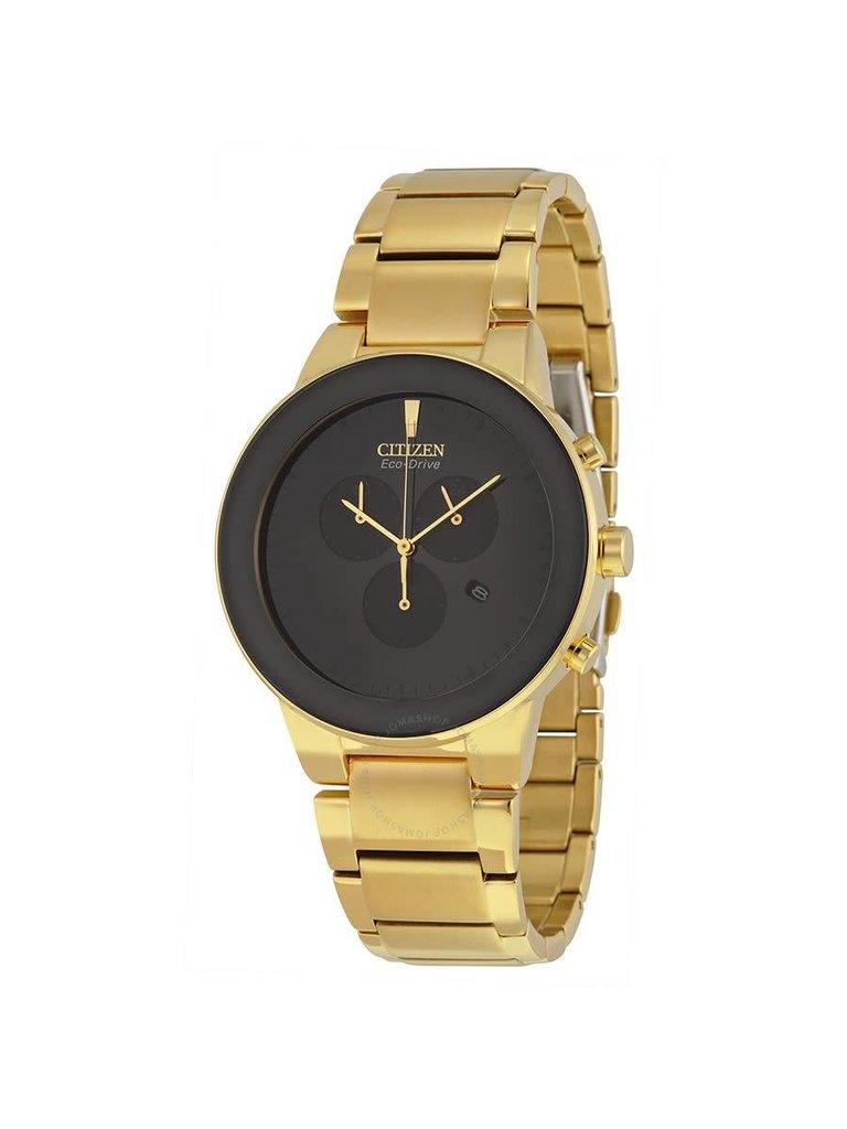 5b2b1732b Citizen Axiom Eco-Drive Chronograph Black Dial Gold-tone Men's Watch ...