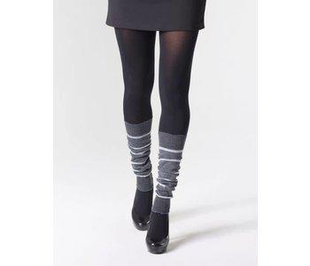 "Mondor Women's Striped Merino Wool Legwarmers 16"" 5271"