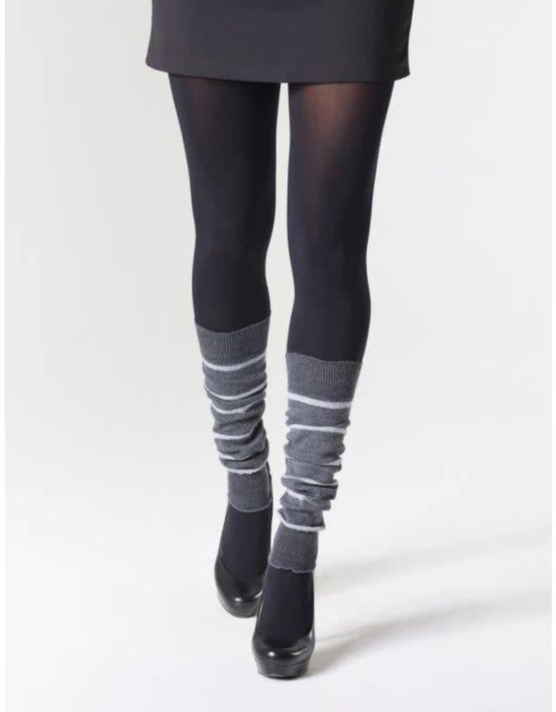 "MONDOR Mondor Women's Striped Merino Wool Legwarmers 16"" 5271"