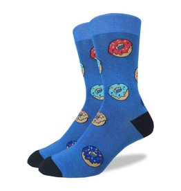 GOOD LUCK Good Luck Sock 1296 Donuts BLEU 7-12