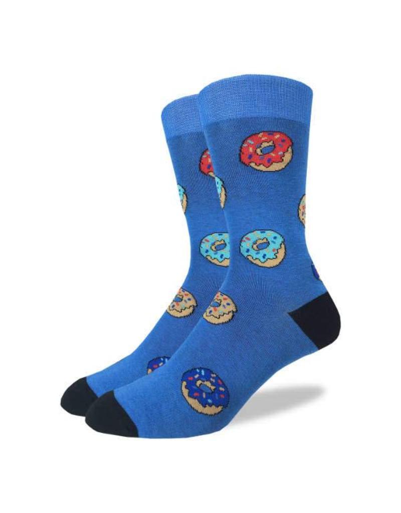 GOOD LUCK Good Luck Sock 1296 Donuts BLEU 7-12