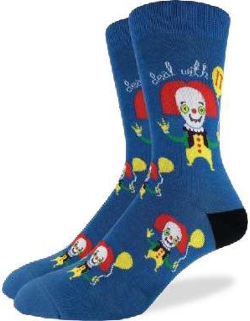 GOOD LUCK Good Luck sock 1329 Clown Blue  7-12