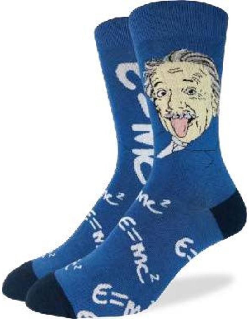 GOOD LUCK Good Luck sock 1336 Albert Einstein Blue 7-12