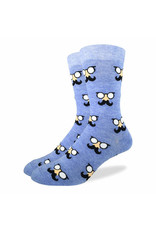 GOOD LUCK Good Luck Sock 1210 Moustach Blue 7-12