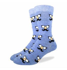 GOOD LUCK Good Luck Sock 1210 Moustach Blue 7-12