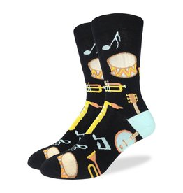 GOOD LUCK Good Luck Sock 1399 Musical Instruments Black 7-12