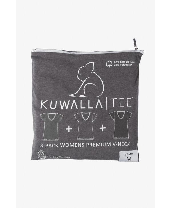 KUWALLA WOMEN'S 3 PACK SS T-SHIRT KUL-WCV116