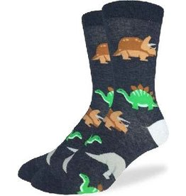 GOOD LUCK Good Luck Sock 1257 Jurasic Dinasaurs Noir 7-12