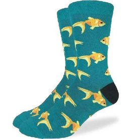 GOOD LUCK Good Luck Sock 1269 Goldfish Teal 7-12