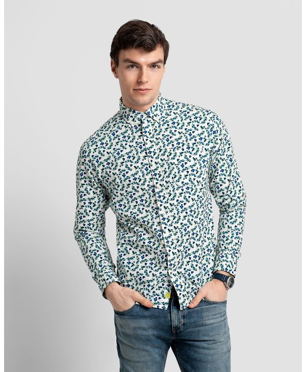 Poplin and Co. Men's Shirt POSLS-01-BLB