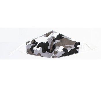 Fashion Masks Grey Camo Cotton/Viscose