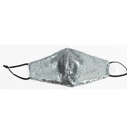 Fashion Masks Silver Sequence Cotton/Poly
