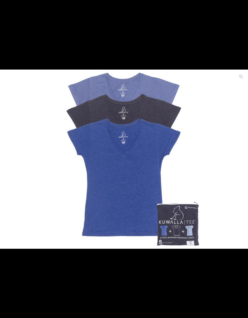 KUWALLA Kuwalla Women's 3 Scoop Neck T-Shirt KUL-LCB80
