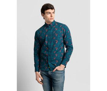 Poplin and Co. Men's Shirt POSLS-01-OLI