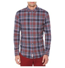 PENGUIN PENGUIN MEN'S TWISTED YARN FLANNEL SHIRT OPWF7062
