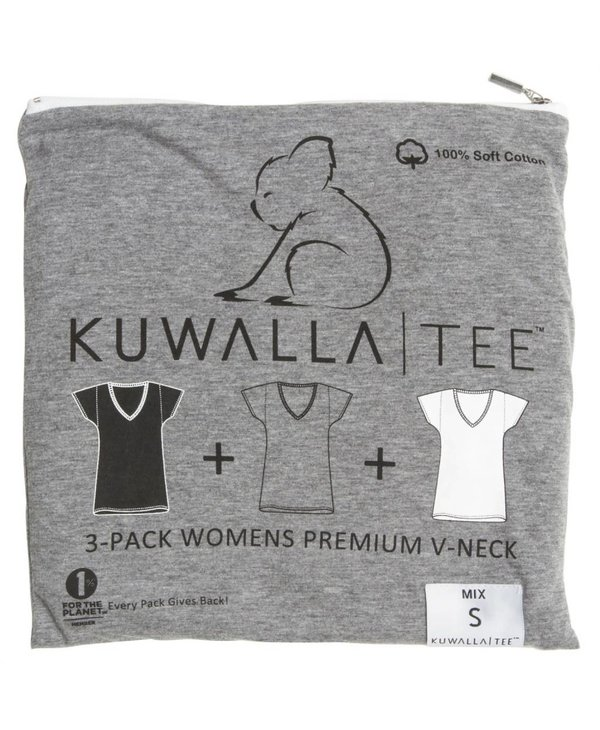 KUWALLA WOMEN'S 3 PACK SS T-SHIRT KUL-WVM44
