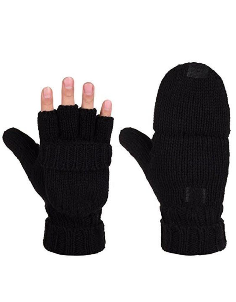 ALBEE WOMEN'S WOOL MITTS FLIP-L