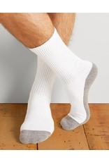 GILDAN Gildan Men's Sport Socks 6Pk GP751-6MGF-02 White