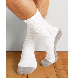GILDAN Gildan Men's Sport Socks 6Pk GP751-6MGF-02 White