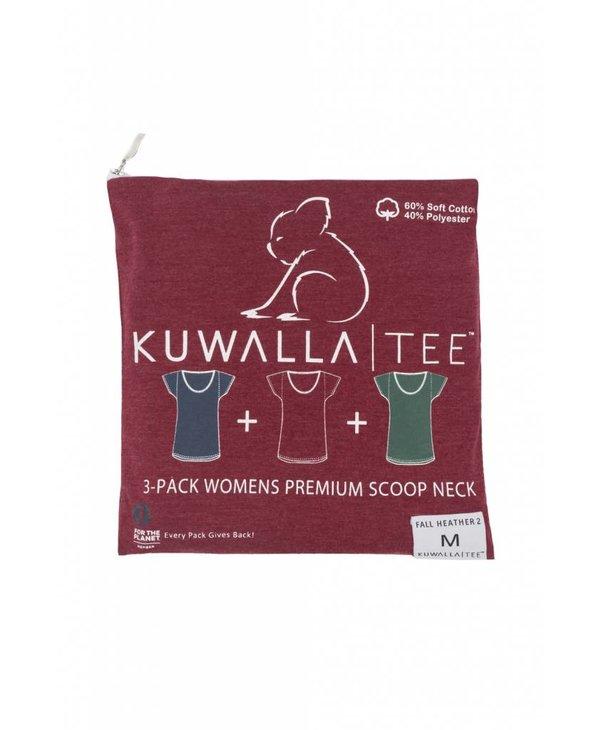 KUWALLA WOMEN'S 3 PACK T-SHIRT KUL-WHC018