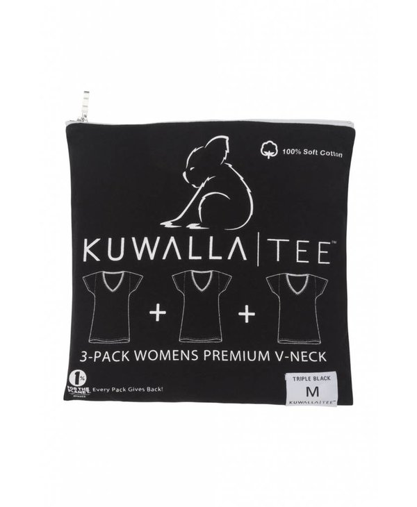 KUWALLA WOMEN'S 3 PACK T-SHIRT KUL-WVB018