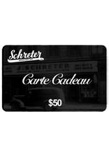 SCHRETER GIFT CARDS