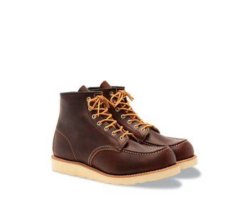 """RED WING SHOES MEN'S 6 """" MOC TOE 8138"""
