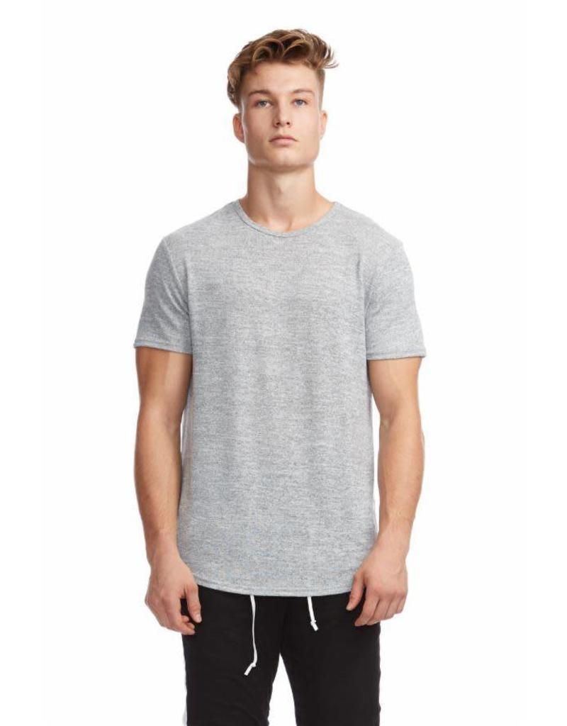 KUWALLA Kuwalla Men's Marled Hi-Lo T-Shirt KUL-HL7404
