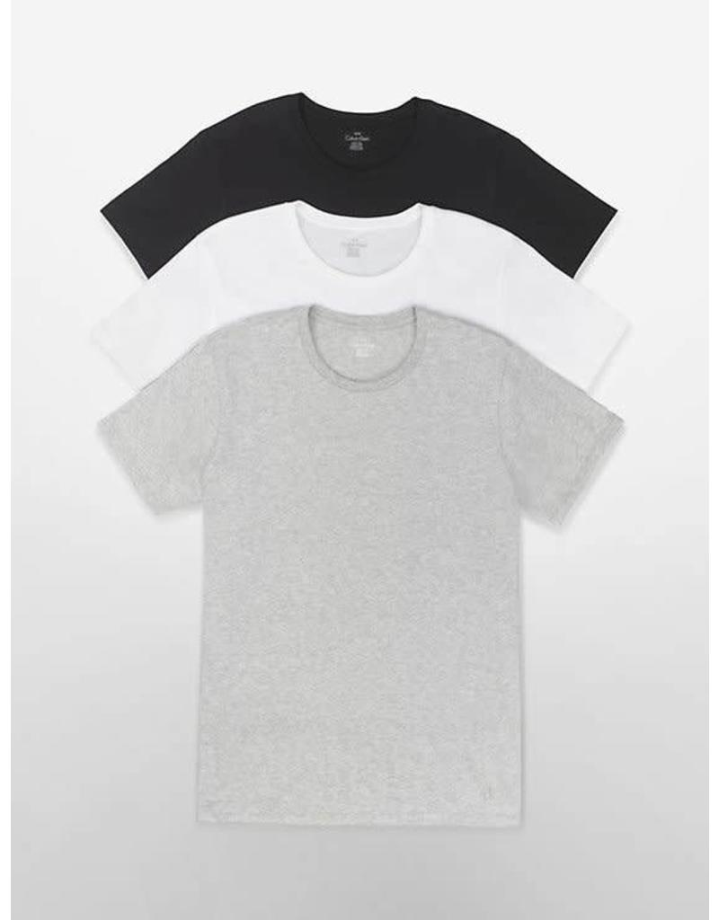 CALVIN KLEIN CALVIN KLEIN MEN'S COTTON CREW TOP 3 PACK U4001G