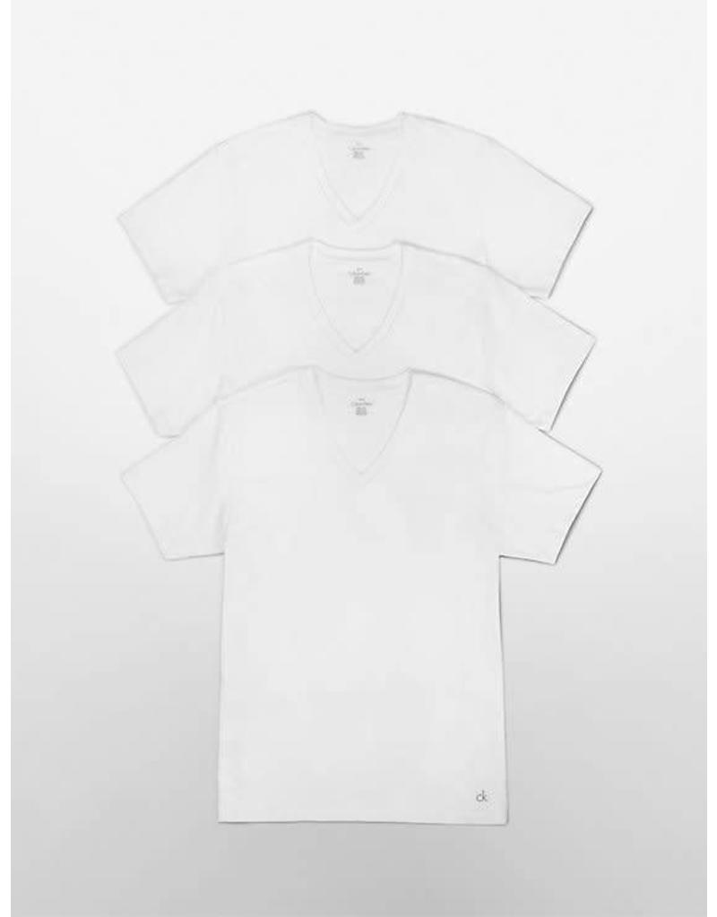 CALVIN KLEIN CALVIN KLEIN MEN'S 3 PACK COTTON V-NECK TOP M4065G