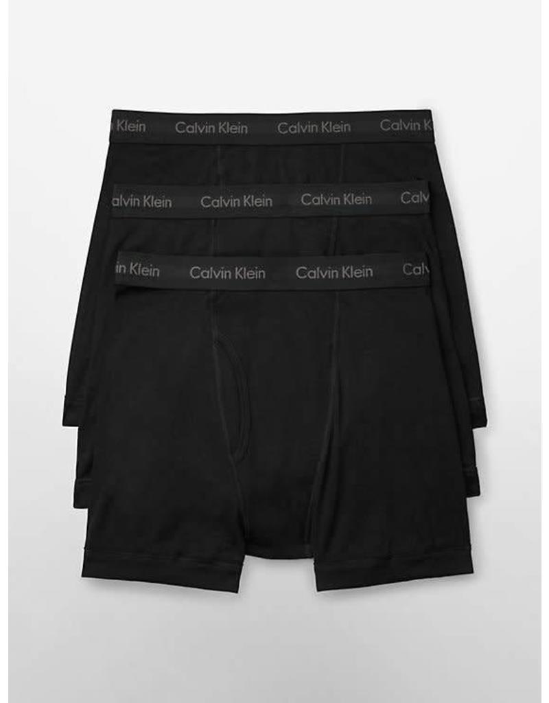 CALVIN KLEIN CALVIN KLEIN HOMMES 3 PAIRE COTON CLASSIC BOXEUR CALECON NU3019G