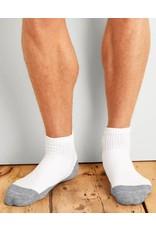GILDAN Gildan Men's Quarter Top Socks 6Pk GP731-6MGF-02 White