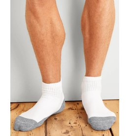 GILDAN Gildan Men's Quarter Top Socks 6Pk GP731-6MGF-02 White