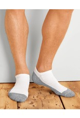 GILDAN Gildan Men's No Show Socks 6Pk GP711-6MGF-01 White