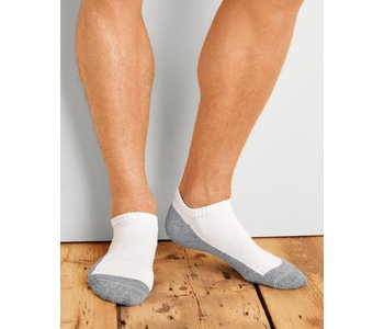 Gildan Men's No Show Socks 6Pk GP711-6MGF-01 White