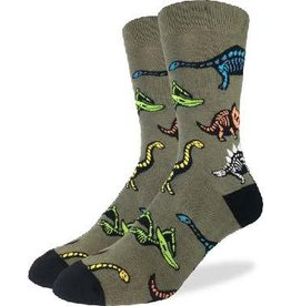 GOOD LUCK Good Luck Sock Dinosaur Skeletons 1405 Vert 7-12