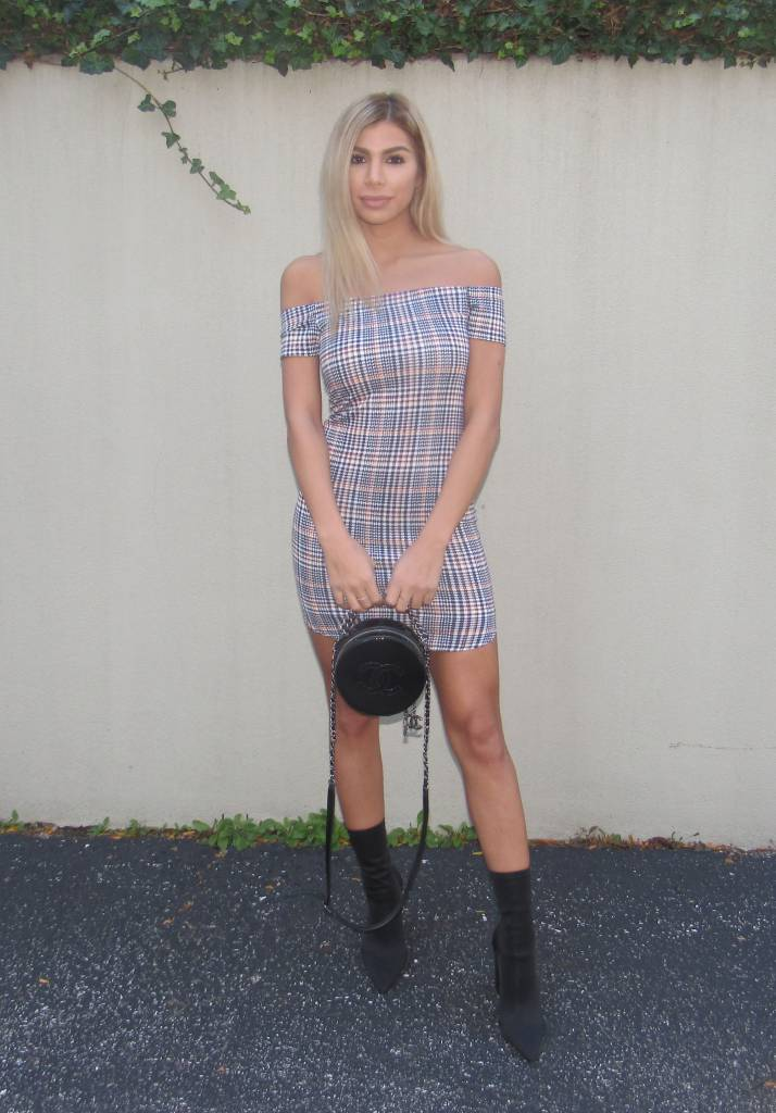 LEXI DREW Plaid Dress