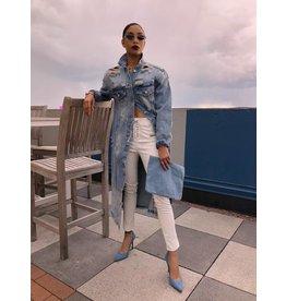 LEXI DREW White Leather Pants