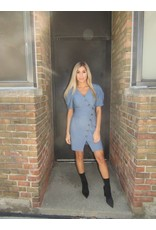 LEXI DREW Structured Blue Dress